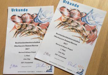 Bezirkseinzelmeisterschaften Erfolg für Arne Sieg