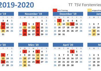 Jugendtraining und Trainingsausfall 2019/2020