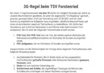 3G-Regeln zum Schutz